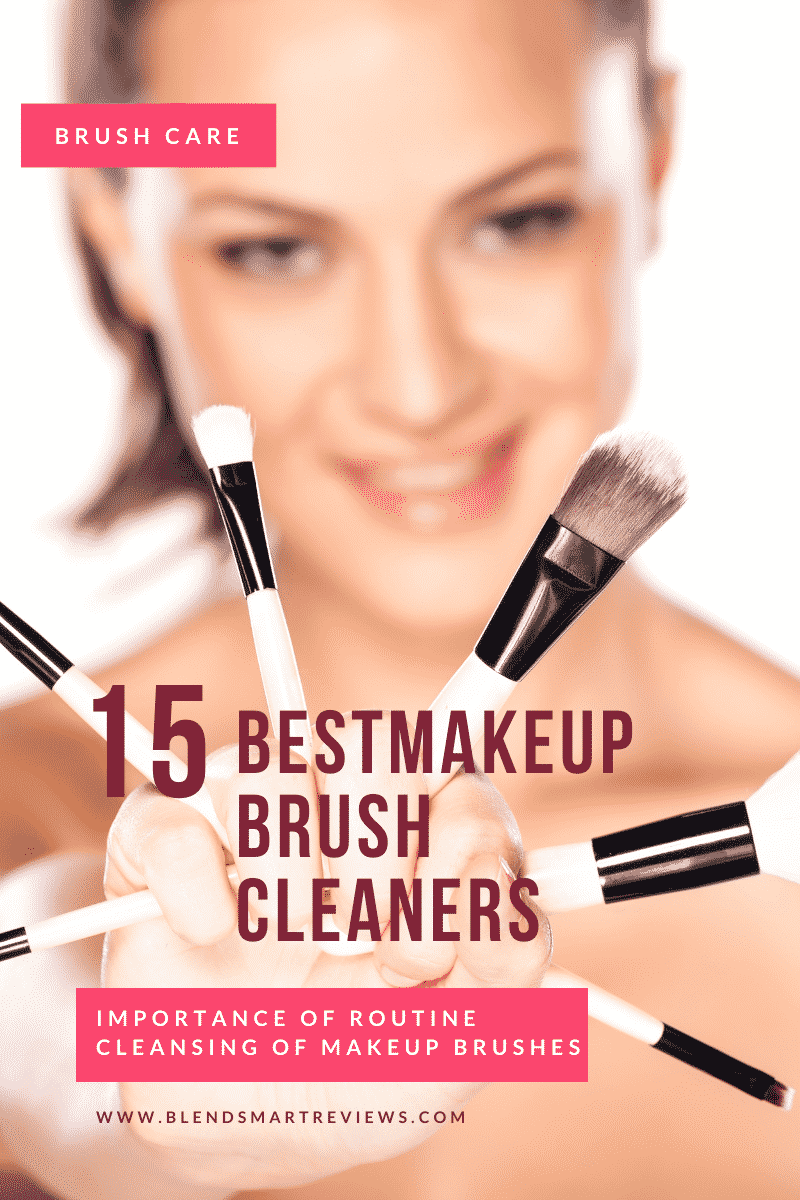women holding clean makeup brushes